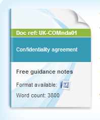confidentiality agreement (non-disclosure agreement or NDA)