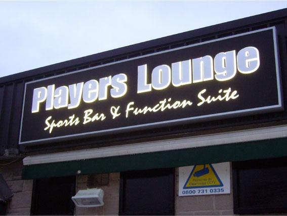 Shop sign Sheffield for Players Lounge